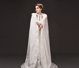 Wholesale 2019 new long tail big code hooded cloak coat bride hair Cape Cloak factory direct sales