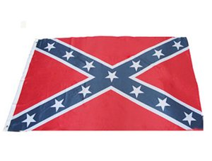 Wholesale Fast shipping USA Confederate Rebel Civil War Flag National Polyester Flag Banner Printed Flag X3FT D by dhl