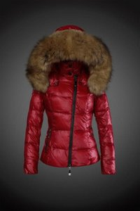Wholesale New brand woman fashion Luxury short down jacket real Raccoon fur collar hoodies parkas Top down coat brand parkas