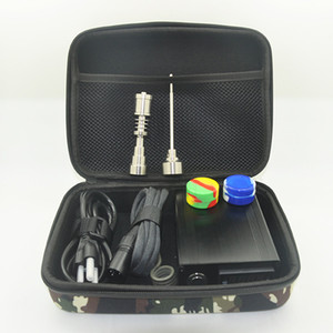 Wholesale mini nail dab resale online - Enail Mini E Dab Nail Titanium Dab Nail Box Kit Fancier Gr2 Titanium Electric Dabber PID Temperature Controller Female Male Dabber