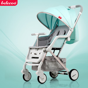 Wholesale BELECOO Ultra Light Baby Stroller Pram Portable Baby Carriage Wheels Suspension Pushchair Can Sit Lie Take to Plane