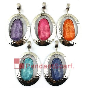Fashion Design Big Size DIY Pendant Scarf Jewelry Color Resin Metal Necklace Scarf Pendant Accessories Charm, Free Shipping, AC0306