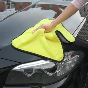 Wholesale Super Thick Plush Microfiber Soft Car Cleaning Cloth With Wax For Car Cleaning Care Wax Polishing Detailing Towels cmx38cm