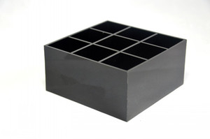 Wholesale Classic black Acrylic grids storage lipsticks holder Make up Storage Case Desk Sundries Organizer VIP gift With box
