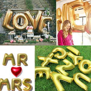 Wholesale 2015 Wedding Balloons LOVE Marry Decorative Letters Aluminum Balloons Birthday Inches Letters Foil Balloons Party Decoration Balloons
