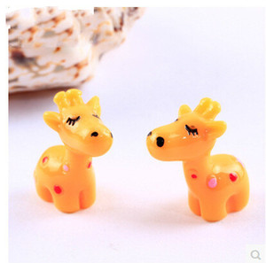 Mini Figurine Cute Yellow Little Deer Cartoon Doll Toy Moss Terrarium Ornaments Micro Landscape Accessories Fairy Garden DIY Material ZAKKA