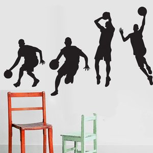 Wholesale basketball decals wall stickers for sale - Group buy Basketball Match Wall Art Mural Decor Home Decoration Wallpaper Decal Sticker Boys Kids Room Art Poster Graphic