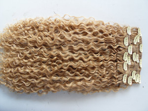 new brazilian curly hair weft clip in natural kinky curl weaves unprocessed blonde human virgin remy extensions chinese hair