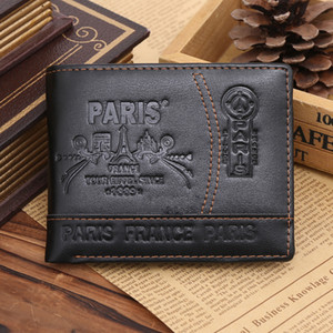 Wholesale Hot Sale New Fashion Casual Business Style Men s Leather Wallet High quality Design Patterns Famous Brand Credit Card Holder Men Wallet