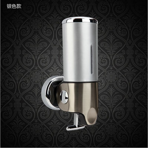 Wholesale And Retail Promotion ML Stainless Steel Touch Soap Box Wall Mounted Liquid Shampoo Soap Dispenser