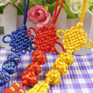 Wholesale Traditional Cute Chinese Knots Pretty Lucky Balls Car Hanging Accessories DIY Weaving Craft Pendant Interior Decorations SK400