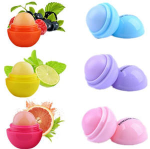 3D Makeup Round candy color Moisturizing lip balm Natural Plant Sphere lip gloss Lipstick Fruit Embellish lip smacker