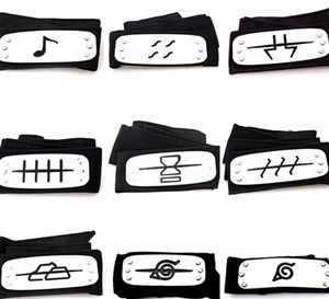 Wholesale PrettyBaby naruto headband leaf village logo Konoha Kakashi Akatsuki Members metal Headband Cosplay Costume Accessories