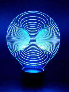 Wholesale 3D night illusion light colors change by touched the switch table in the beneath of the light D