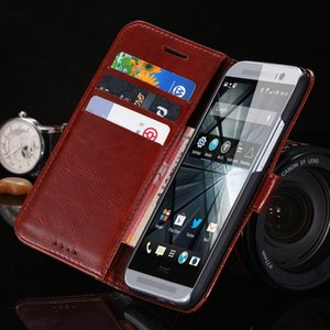 Wholesale New Luxury Vintage Wallet Stand Flip Case For HTC One M8 Retro Crazy Horse PU Leather Cover Mobile Phone Accessories Bag