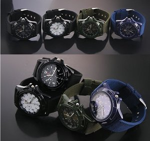 Wholesale GEMIUS ARMY Solider Military Sports Style Wristwatch for Men Canvas Belt Fabric Strap Luminous Quartz Army Wrist Watches Fashion colors