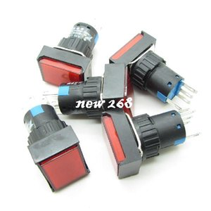 Wholesale red momentary button switch for sale - Group buy Rectangle Red momentary Push Button Switch DC12V Llight NO COM NC mm Pin A