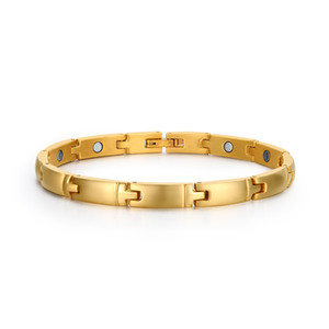 Cute bracelet magnetic health pulceras for women 18k gold filled fashion jewelry