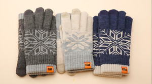 Wholesale-Original Xiaomi Winter Gloves Warm Wool Perfect for IOS and Android Phone's Screen Touching Unisex Gloves