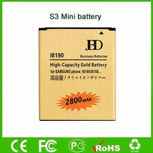 2800mAh Gold Battery For Samsung Galxy Ace 2X S3Mini Duos GT-I8190 GT-S7560M High Capacity Mobile Battery Factory Direct Wholesale