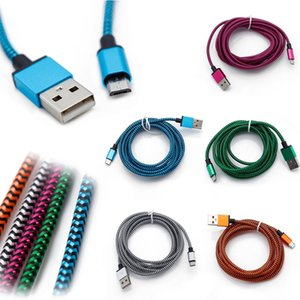 Wholesale 3FT FT FT Braided Copper Micro USB Charger Sync Data Cable Cord for samsung galaxy s4 s5 for Type C all cellphone