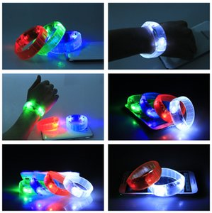 LED Voice-control Bracelet Glo-sticks Electronic LED Flashing Bracelet Glow Bracelets Wrist Band Christmas Bracelet Lighted Toys