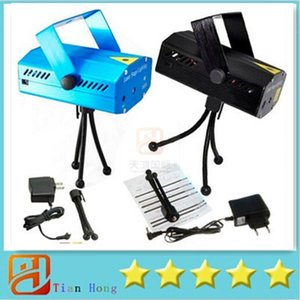 Wholesale 2015Holiday Sale Blue Mini Laser Stage Lighting mW Mini Green Red LED Laser DJ Party Stage Light Black Disco Dance Floor Lights