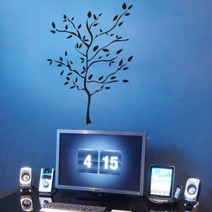 Wholesale black tree decals for sale - Group buy Black Large Tree Scenery Wall Decal Sticker Living Room Bedroom Creative Wallpaper Decor Poster Removable Tree Wall Applique