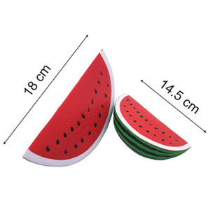Wholesale squishy jumbo watermelon hot sale cm cm slow rising charm squeeze toy and Squishy small watermelon