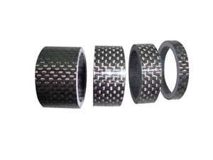 full carbon fiber road bike and mountain bike spacer 5 10 15 20mm carbon 3k glossy spacer bicycle accessroies on Sale