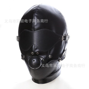 Wholesale Slave Bright Muzzles Leather Hoods Mask Removable Mouth Gag Goggles Fetish Fantasy Sex Product For Adult Head Restraints BDSM Bondage Z168