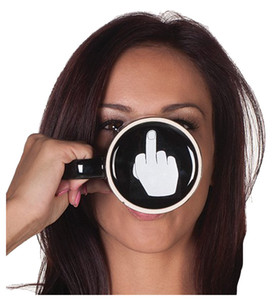 Wholesale ceramic finger resale online - Novelty Ceramic Middle Finger Coffee Cups Piece Personality Office Gifts Have A Nice Day Mug