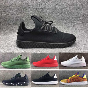 Wholesale 2017 Pharrell Williams Stan Smith Classic all black trainer sport shoes for Men Women s Lover s Running sneaker szie