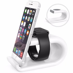 Wholesale Acrylic Charging Dock Station Bracket Cradle Stand Holder Charger For iPhone c s s X Plus for Apple Watch mm mm