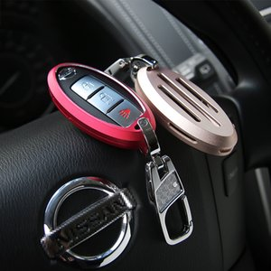 Wholesale Decoration Covers Ring Car Metal Key Shells Fit For Nissan Patrol Inner Interior Accessories Styling