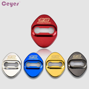Auto Stainless Steel Car Door Lock Cover for Honda Civic Mugen Power Badge Door Lock Protective Cover Car Styling 4pcs lot