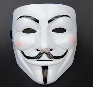 Wholesale 100pcs new V Mask Masquerade Masks For Vendetta Anonymous Valentine Ball Party Decoration Full Face Halloween Super Scary Guy D169