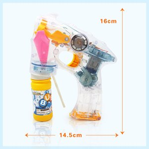 Wholesale Electric bubble gun children s bubble toys hot toys light music bottles of water space music lights bubble guns