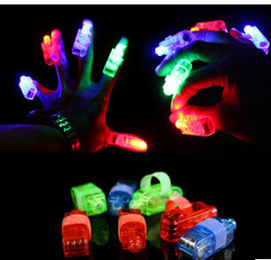 Wholesale 4 COLORS New Hot LED Mitts Gloves Finger toy beams Ring Lights Rave Party Glow laser fingers kids toys without package CCC1157