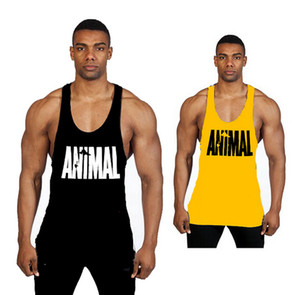 Men Gym Stringer Tank Top Bodybuilding Fitness Cotton Sleeveless T Shirt Vest Men' Gym Tank Tops Sports Clothes