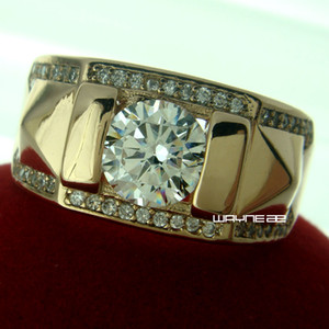 Wholesale Size Q Z jewelry kt gold Plated Topaz MEN Wedding Lovers Ring gift R245