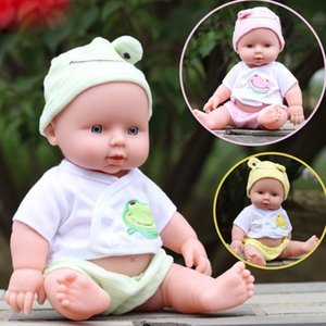 Wholesale Cute Simulation Reborn Baby Dolls Handmade cm Real Looking Newborn Soft Plastic Vinyl Doll Children Pretend Play Toys Gift for Kids