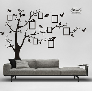 Wholesale Large Cm in Black D DIY Photo Tree PVC Wall Decals Adhesive Family Wall Stickers Mural Art Home Decoration