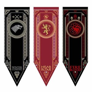 Wholesale Game of Thrones House Stark Banner Wolf Tournament Outdoor Banner Flag Custom America USA Team Soccer College Baseball Flag