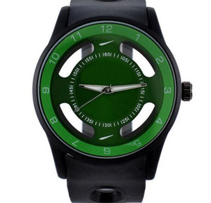 Fashion NI luxury Brand women men's Silicone band quartz wrist watch with logo N06