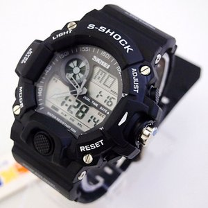 Wholesale skmei electronic watch for sale - Group buy 2016 New SKMEI student watch brand silicone LED indicator plus digital display electronic watches mens watches