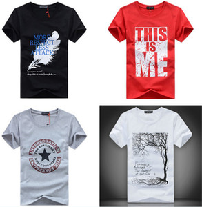 Wholesale Men T Shirts Print fashion men women short sleeves cotton cartoon T shirt tees clothing apparel colorful many designs gifts