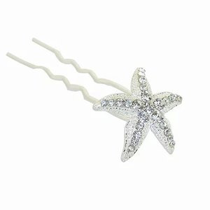 Bridal Wedding Hair Pins and Clips Rhinstone U Style Stick Women Hairpiece Starfish Hair Accessories Jewelry Prom Fashion Long Hair Decerate on Sale