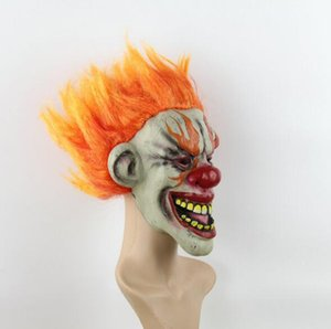 Wholesale Joker Clown Costume Mask Creepy Evil Scary Halloween Clown Mask Adult Ghost Festive Party Mask Supplies Decoration