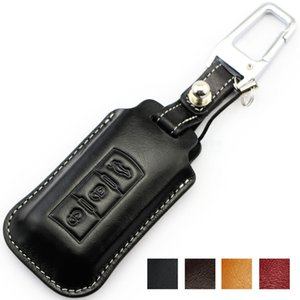 Wholesale mitsubishi keychain resale online - Muticolor Genuine Leather Car Key Case for MITSUBISHI ASX OUTLANDER EX LANCER PAGERO auto accessories Key cover keychain keyring